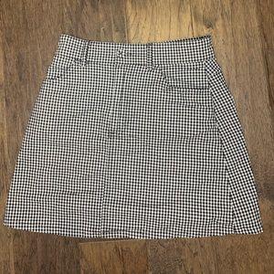 Checkered mini skirt!